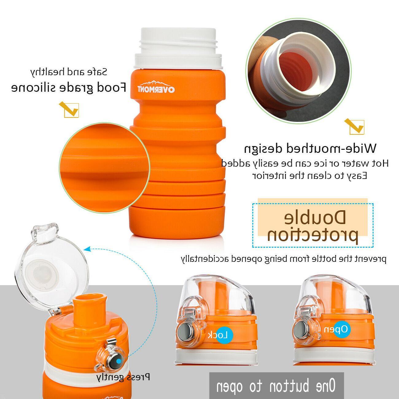 Foldable Silicone Bottle Reusable Climbing Biking