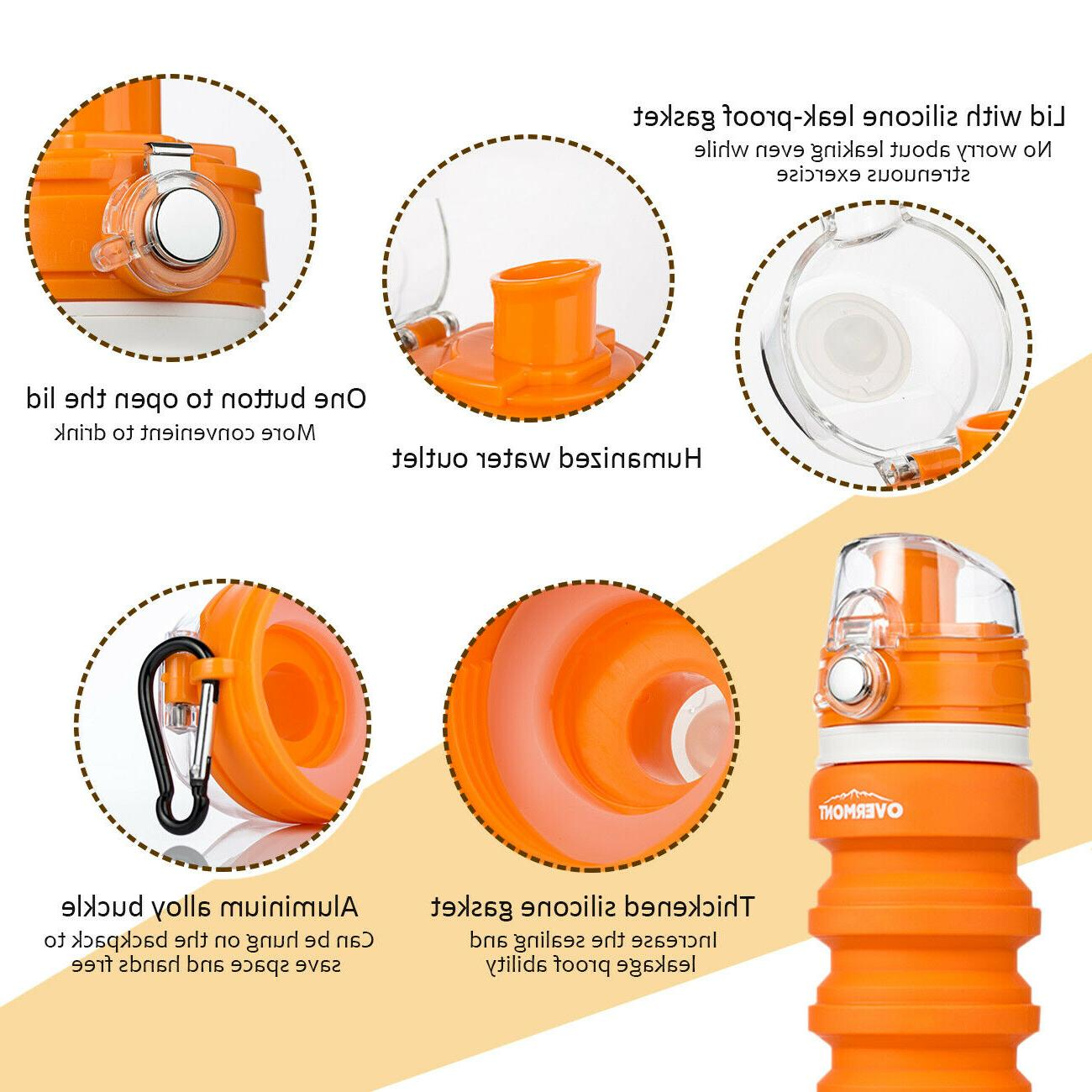 Foldable Silicone Bottle Collapsible Biking Travel