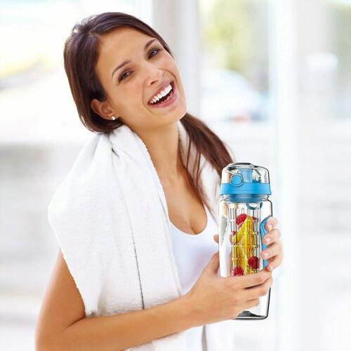 Fruit Water 32oz Top Lid Anti-Slip Grips
