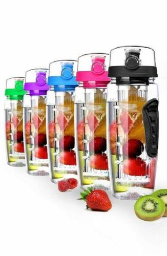 Fruit Water Bottle 32oz Top Anti-Slip