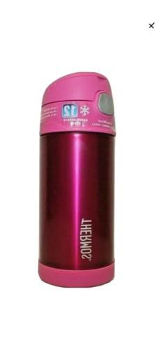 Thermos Funtainer Stainless Steel Water Bottle Straw 12 oz P