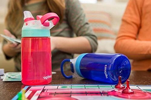Contigo Straw Flip Lid for Water BPA Free, Carry Handle, Spout Push Button -