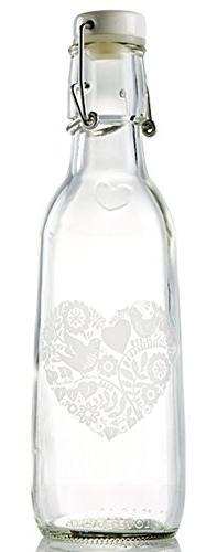 Love Bottle Glass Water Bottle , Made in USA, Reusable, Swin