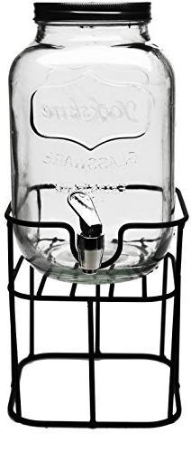 Circleware 69122 Sun Tea Mini Mason Jar Glass Beverage Dispe