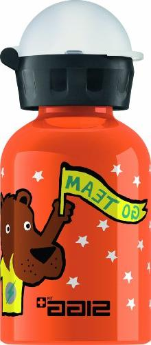 Sigg Go Team Bear Elephant Water Bottle, Orange, 0.3-Liter