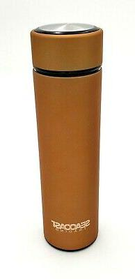 Gold Double Wall Insulated Stainless Steel Coffee, Tea, Wate