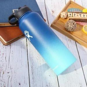 Gradient Color Water Bottle Wide Stainless Steel