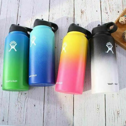 gradient color water bottle wide mouth stainless