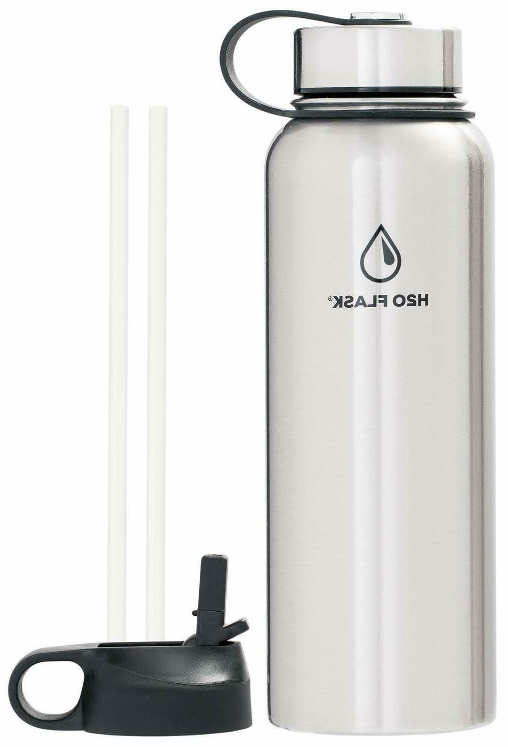 H20 Water Stainless Insulated Wide Mouth with Straw