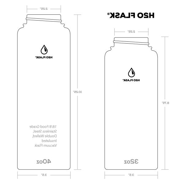 H20 Flask Stainless Mouth with & Straw