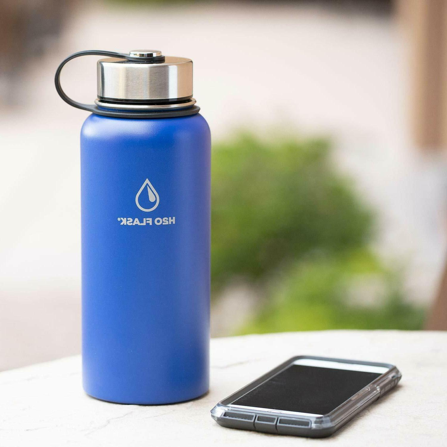 H20 Flask Stainless Steel Mouth & Straw