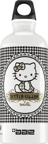 Sigg Hello Kitty Pepita Diva Water Bottle, 0.6-Liter, White/
