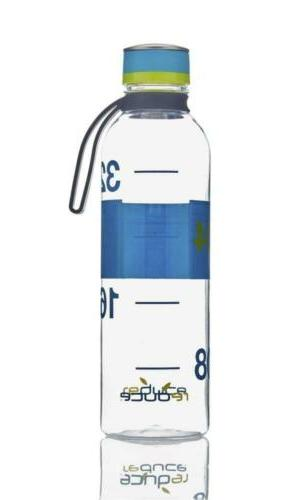 reduce Hydro Tritan Water Bottle, 40oz - Teal w/Lime Green A