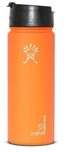 Hydro Flask Wide-Mouth Water Bottle Flip Lid 18 Oz Orange Hy