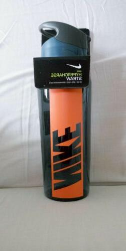 NIKE HYPERCHARGE STRAW WATER BOTTLE 32oz Blue Orange NEW