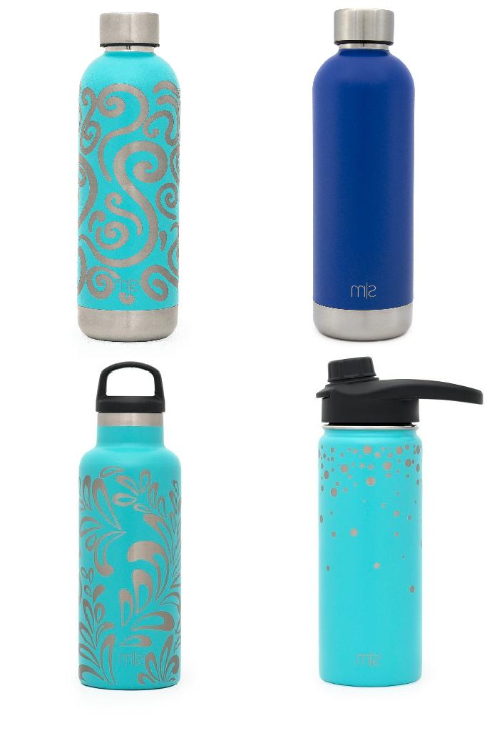 insulated stainless steel water bottle engraved patterns