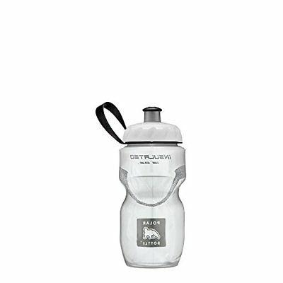 insulated water bottle 12oz white 12 oz