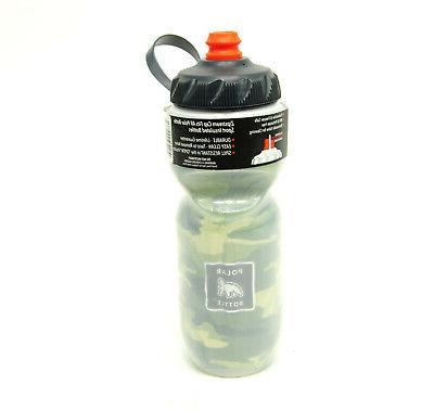 insulated zipstream bottle 20oz camo