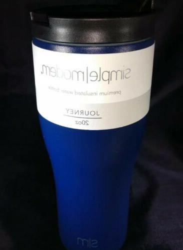Journey Simply Modern 20oz premium insulated water bottle +