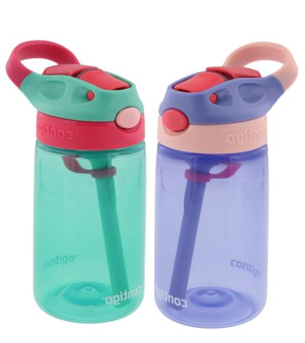 Contigo Kids Autospout Gizmo Water Bottles, 14oz Lavender/Persian Green 2