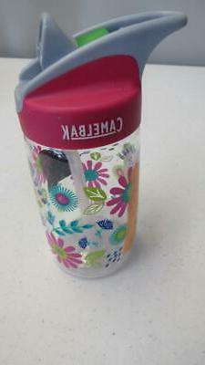 CamelBak Kids Eddy Water Bottle, 12 oz, Floral NEW