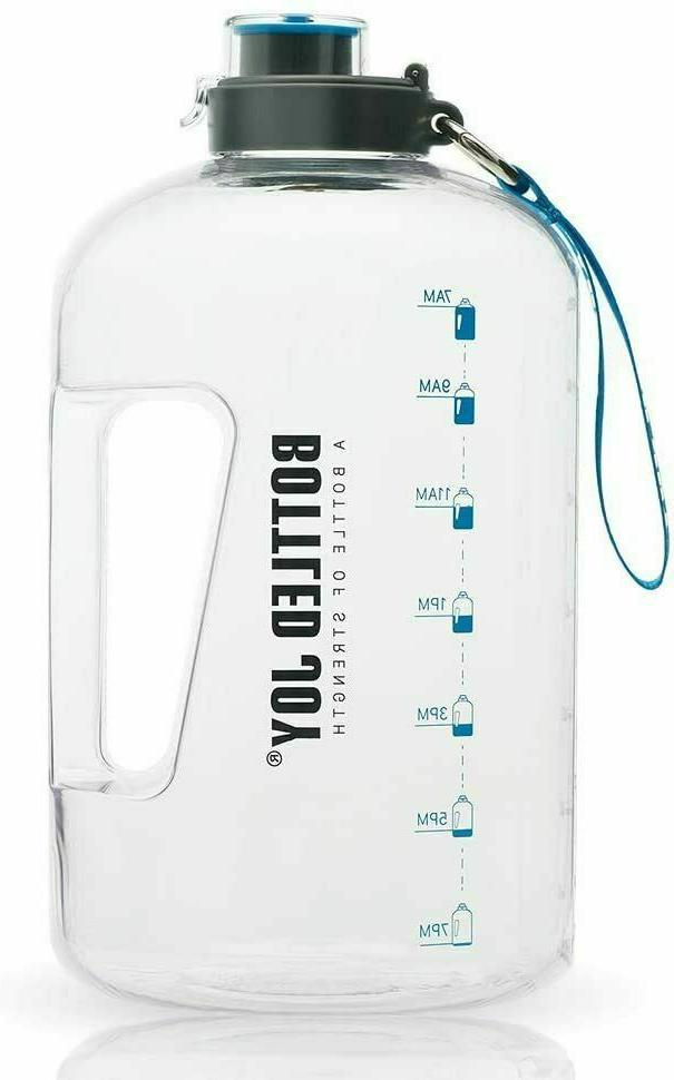 large sports water bottle 1 gallon exercise