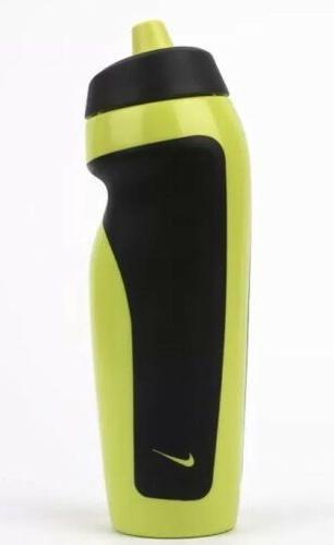 Nike LARGE Water Bottle 20OZ Yellow Black Hang Tag Running