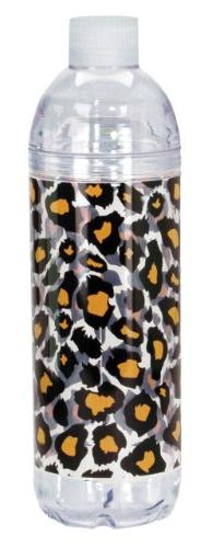 Spoontiques Leopard Print Acrylic Water Bottle, Yellow