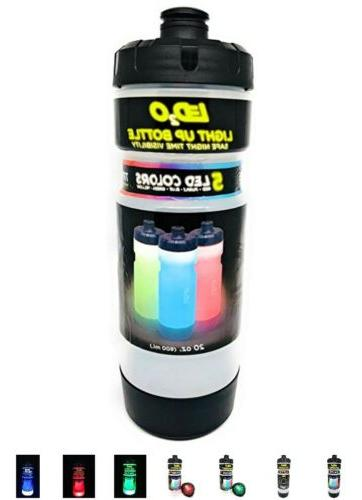 light up squeeze water bottle sports color