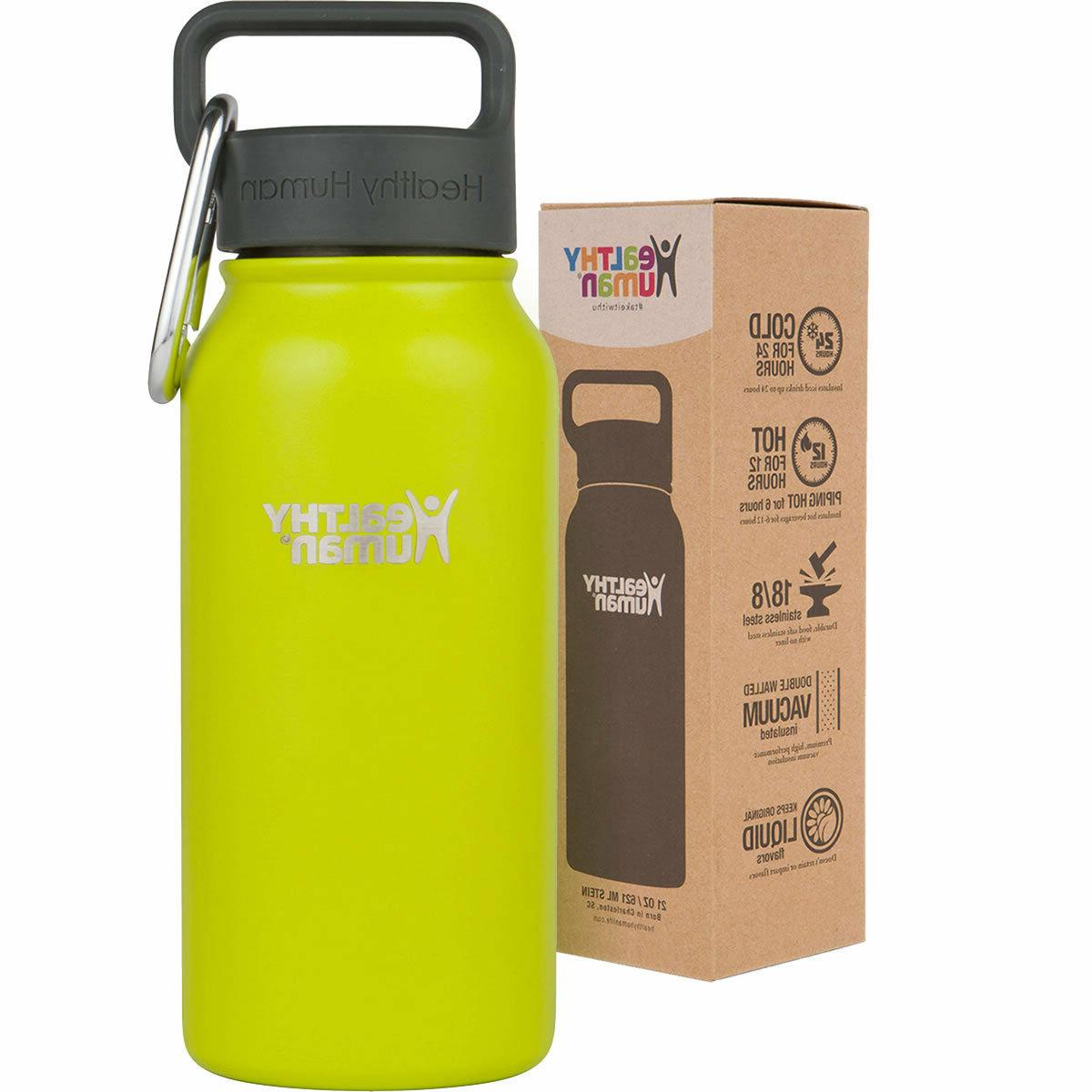 Healthy 16 oz Mojito Insulated Water Bottle