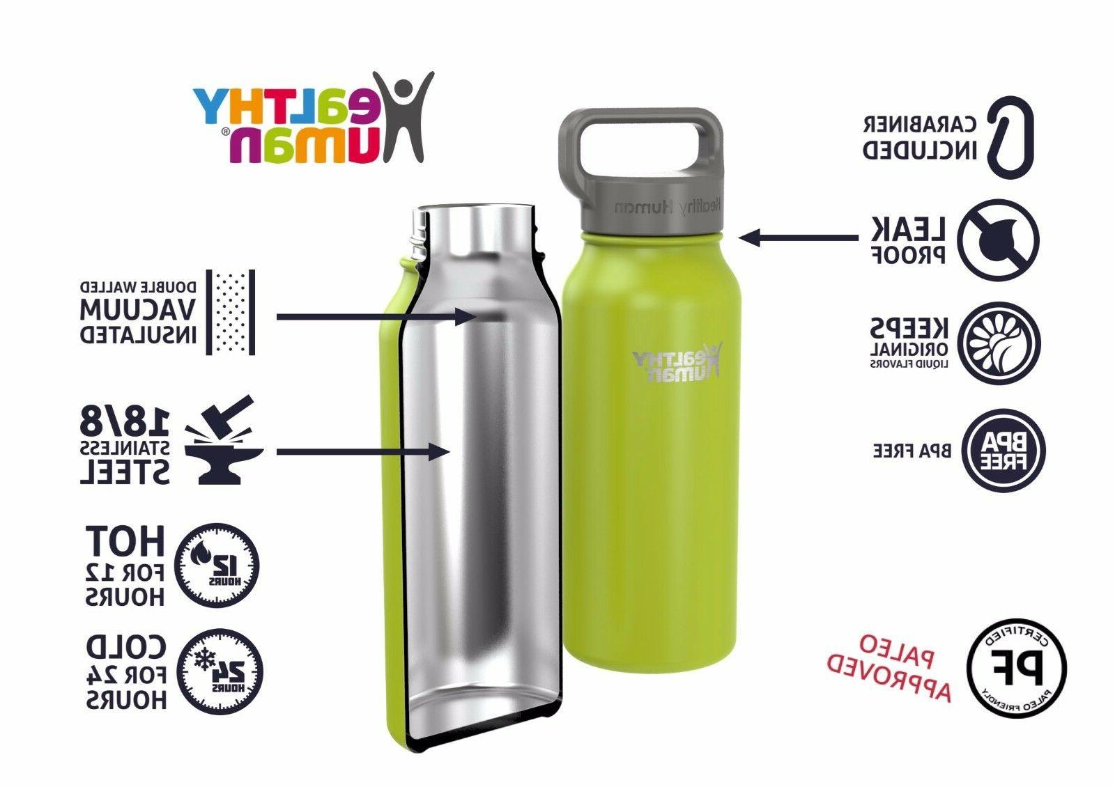 Healthy Human 40 Mojito Insulated Stainless Water Bottle