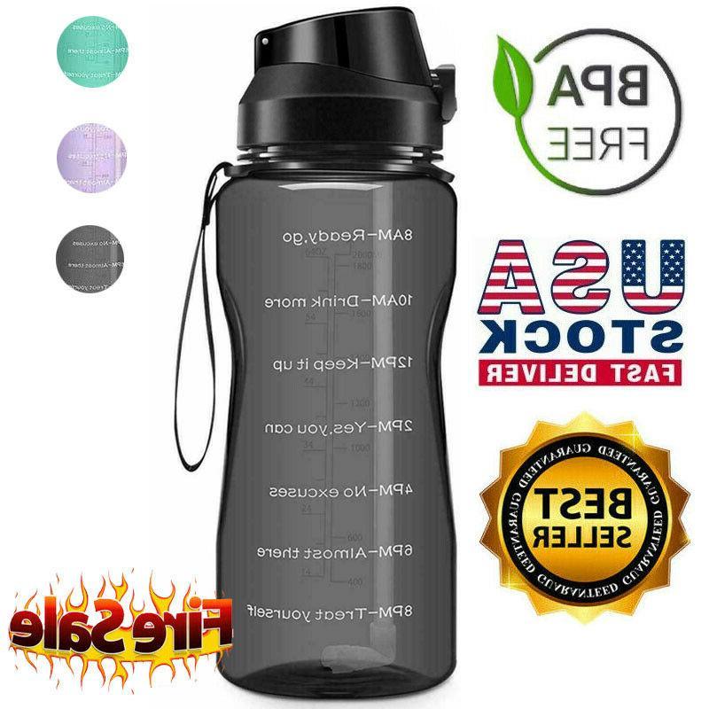 motivational water bottle 2 2l 64oz half