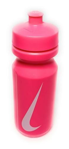 New NIKE Big Mouth Water Bottle 22 Oz/ .65 Liter Hot Pink /