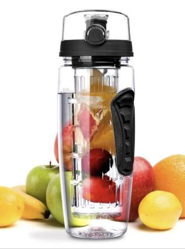 new fruit infuser water bottle 32oz flip