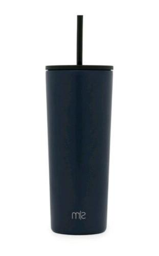 new stainless steel water bottle navy 24oz