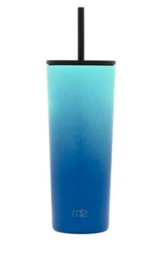 new stainless steel water bottle ombre turquoise