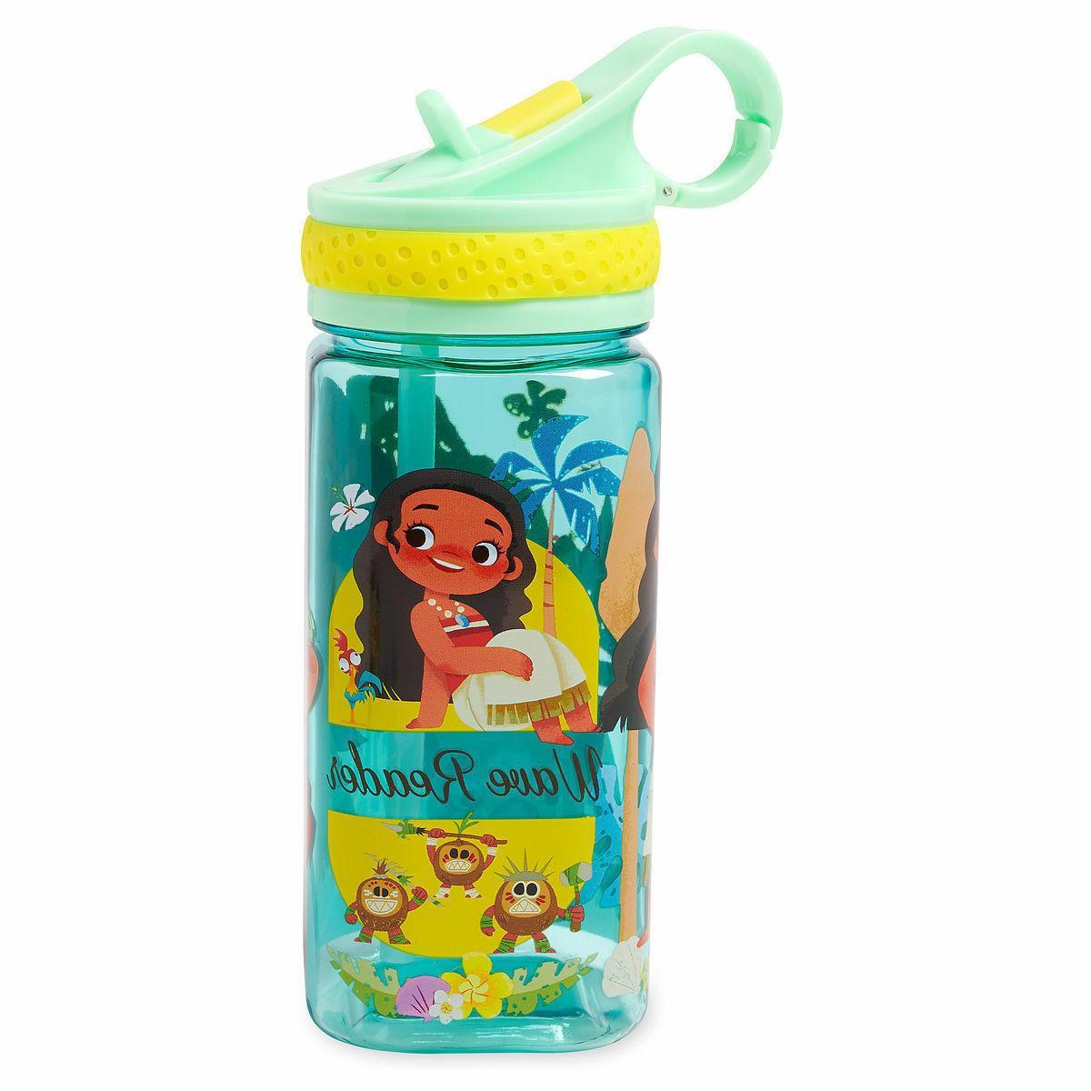 NEW Disney Store Princess Moana & Pua Water Bottle with Stra