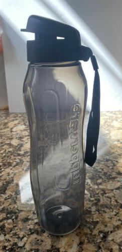 New TupperwareEco Twist slim Water Bottle w/strap Flip Top
