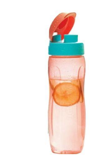 New TUPPERWARE Medium Slim Water Bottle 25 oz Flip Top FREE