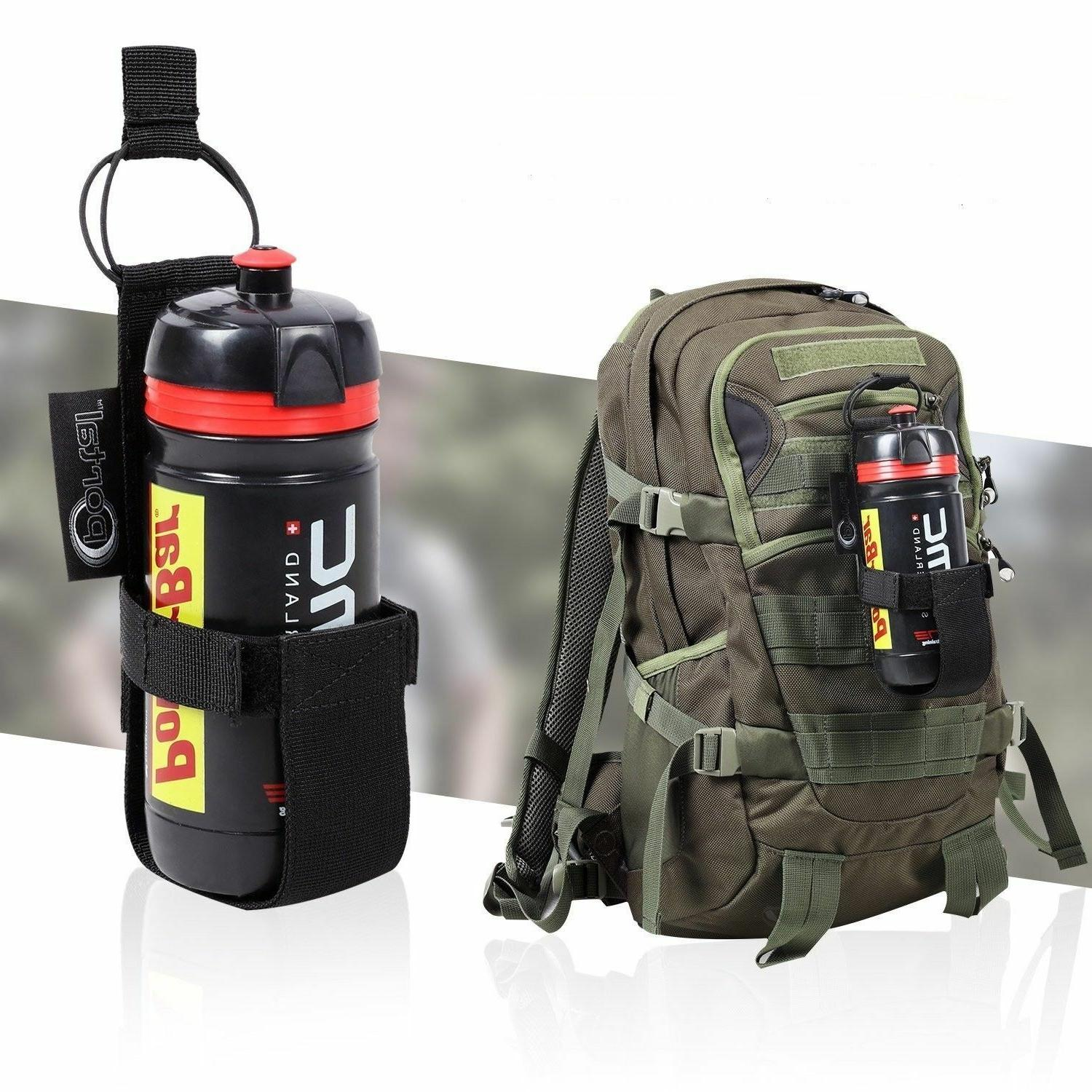 Nylon Water Belt Carrier Pouch Hiking Camping