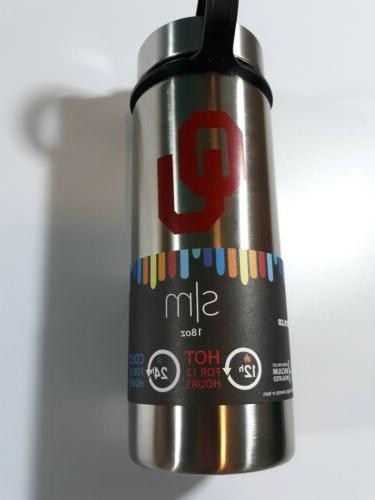 oklahoma university sooners stainless 18oz water bottle