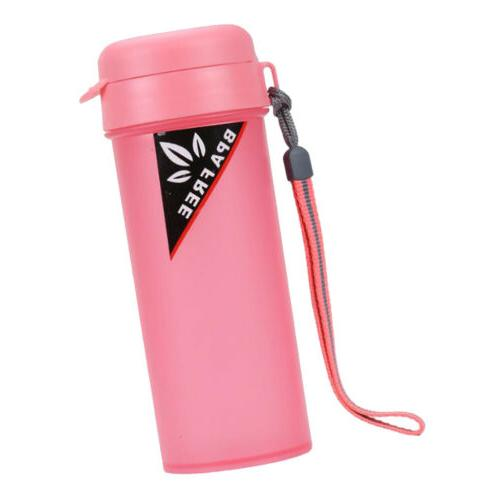 pink sports water with handle drinking bottle