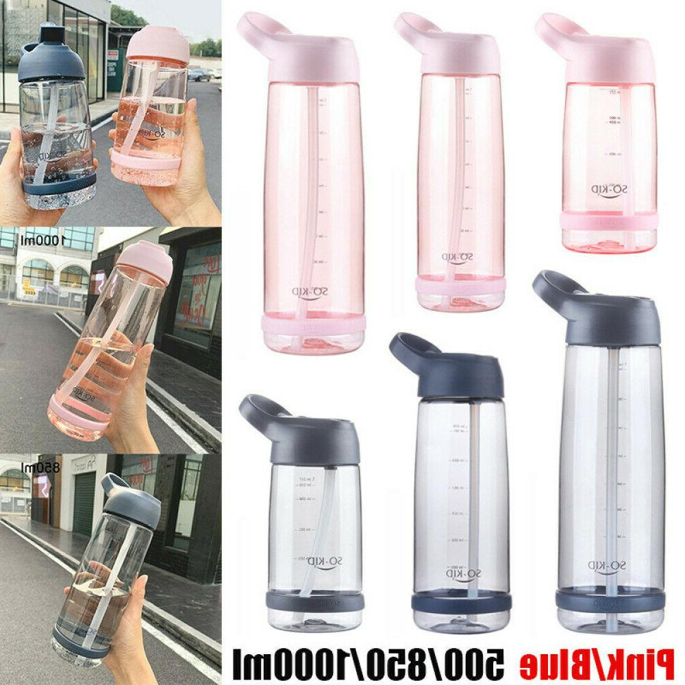 portable sports water bottles with straw bpa