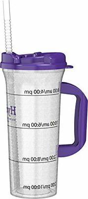 Hydr-8 Purple 32ounce Water Bottle with Swivel Lid