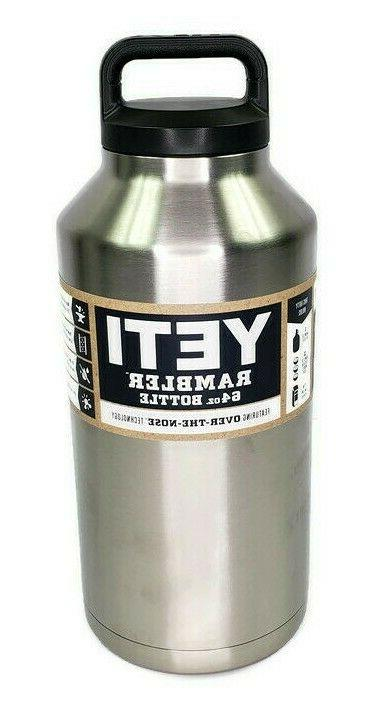 Brand New Yeti Rambler 64 oz Stainless Bottle with Lid YRAMB