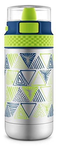 Ello Ride Stainless Steel Water Bottle, Touchdown Blue, 12 o