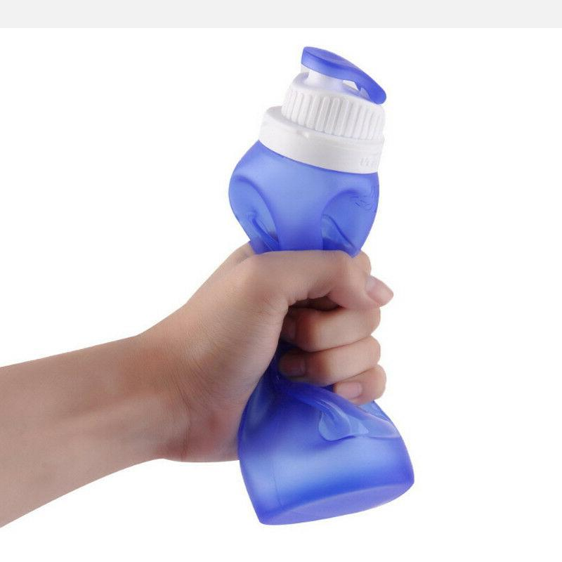 Silicone Portable Foldable Bottle 500ml Drink