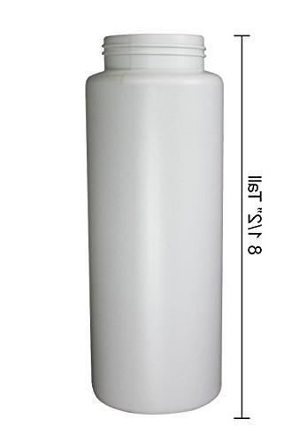Pinnacle Mercantile Squeeze Plastic Bottles Push/Pull Cap Ounce Cap