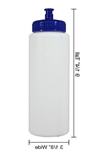 Pinnacle Plastic Water Push/Pull Cap Wide Mouth Ounce Set Cap