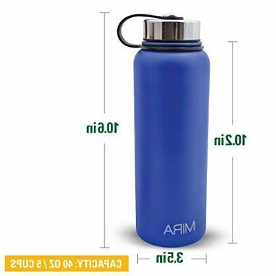 MIRA 40 oz or 18 oz Stainless Steel Bottle